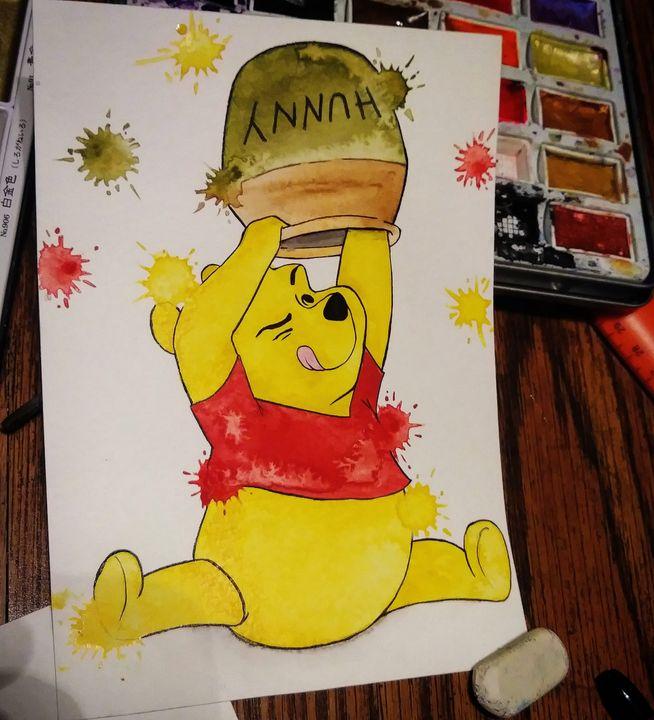 Winnie The Pooh Fan Art - Art By Sam
