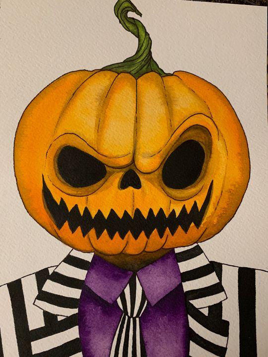 Pumpkin Head - Art By Sam