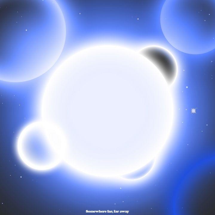 Somewhere Far, Far Away (blue) - Crooksinblack Art