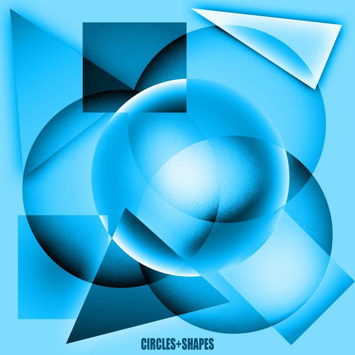 Circles + Shapes (sky blue) - Crooksinblack Art