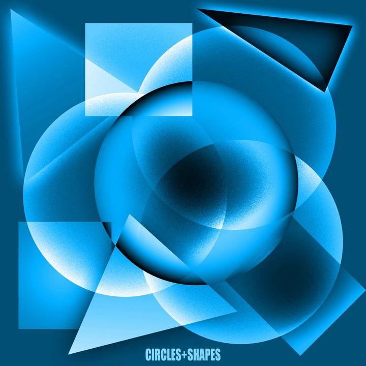Circles + Shapes (midnight) - Crooksinblack Art