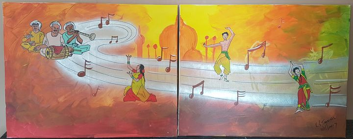 Indian dancers and musicians - Kamal P Timmal