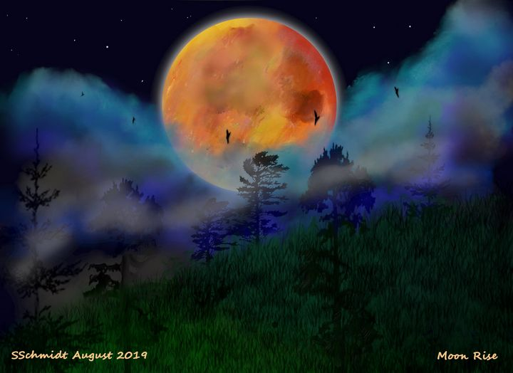 Moon Rise - Chillax Art