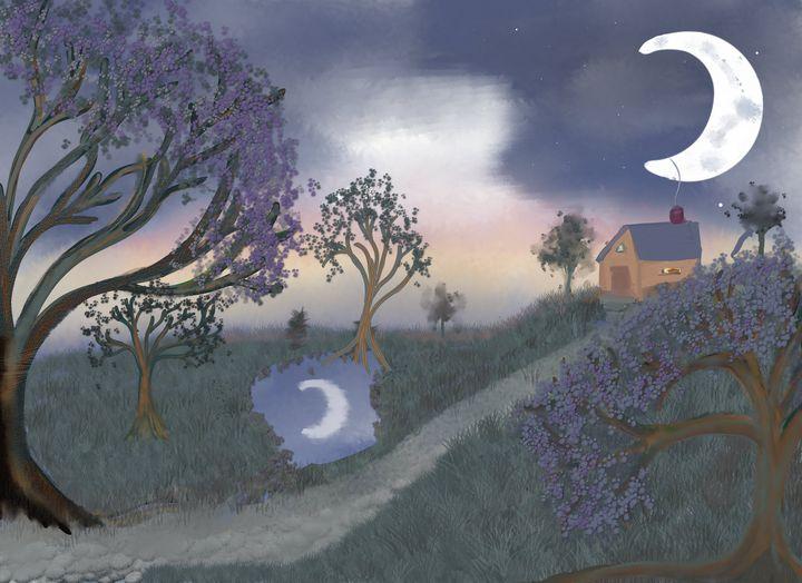 Reflected Moon - Chillax Art