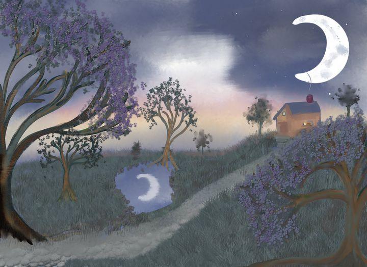 Crescent Moon - Chillax Art