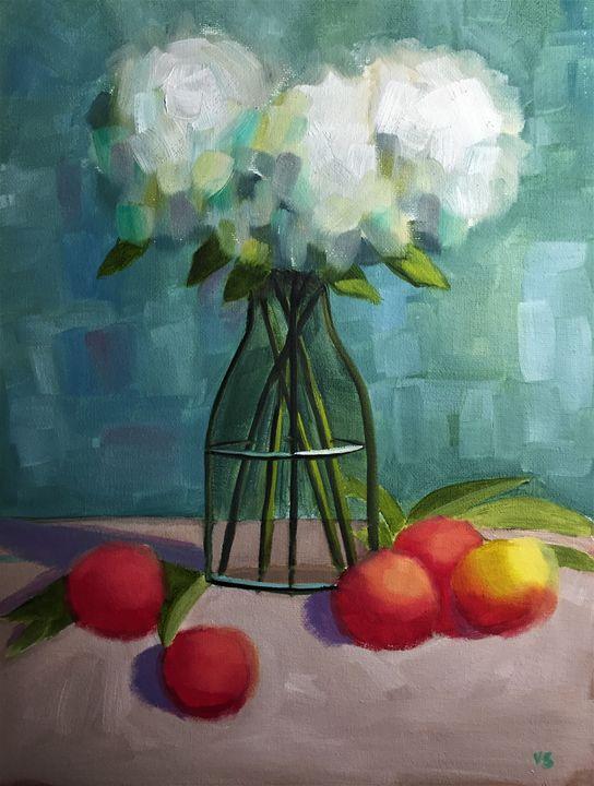 Flowers with fruit - Serrano Art Studio