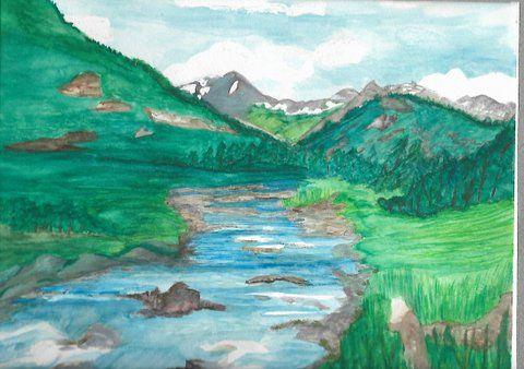 cache la poudre river colorao - Ccrider art