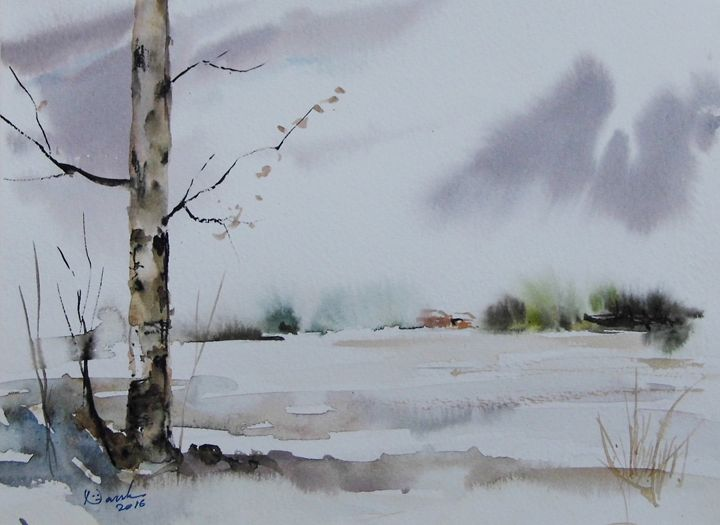 water colour painting - fine art sketch