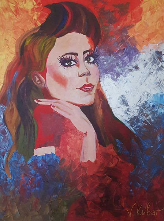 """ Fear"" acrylic 90×140 - Viktoriia"