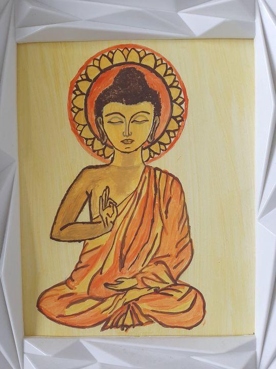 Meditating budha - Sahitya