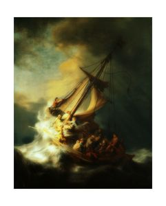 Rembrandt - The storm on the sea