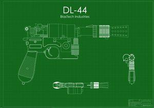 DL-44 Han Solo Blaster Green