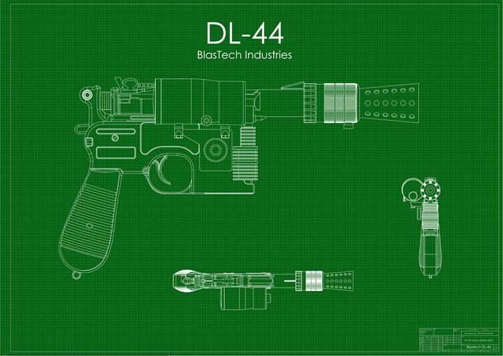 DL-44 Han Solo Blaster Green - A. P. Rockwood
