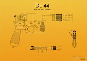 DL-44 Han Solo Blaster Yellow