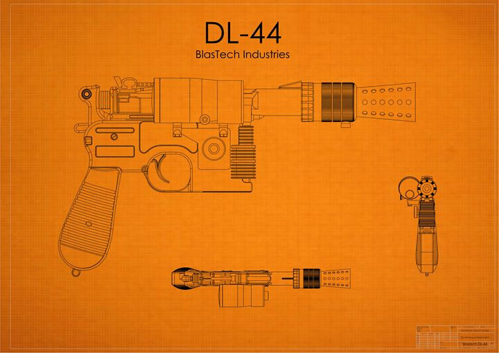 DL-44 Han Solo Blaster Orange - A. P. Rockwood