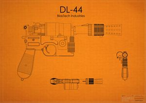 DL-44 Han Solo Blaster Orange