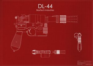 DL-44 Han Solo Blaster Red