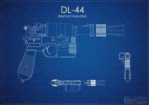 DL-44 Han Solo Blaster Blue