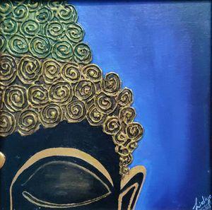 Half faced Buddha