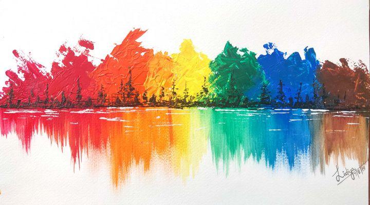 Rainbow landscape - Lidsart