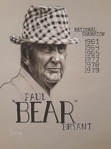 Bear Bryant Portrait