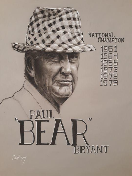 Bear Bryant Portrait - WayCon Fine Art
