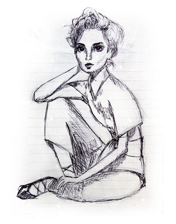 Illustration of a woman sitting - Gina Illustrates