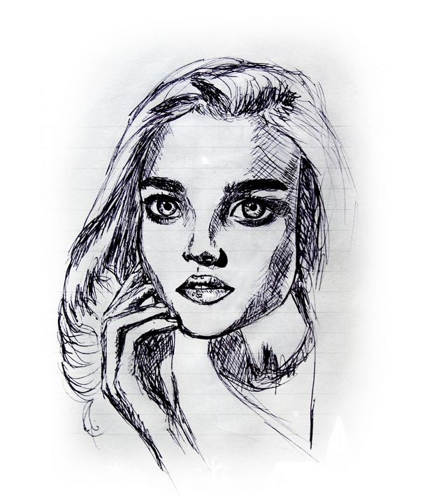 Portrait of an attractive woman - Gina Illustrates