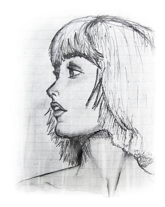 Profile portrait of a woman - Gina Illustrates