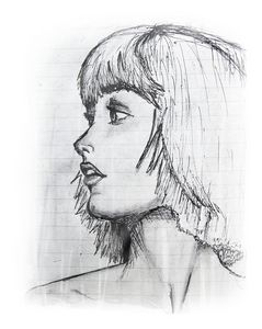 Profile portrait of a woman