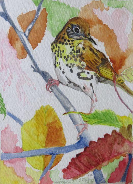 Sparrow in Fall - Angela M. O'Neal