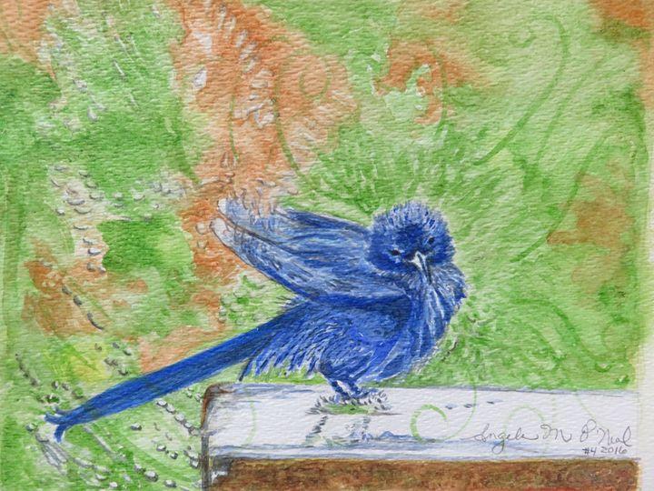 Bluebird Splash Bath - Angela M. O'Neal