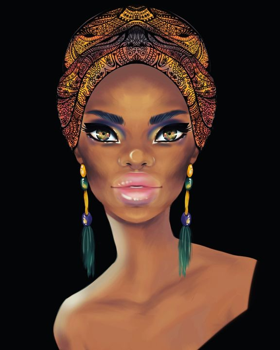 Dark beauty - gigi digital paintings