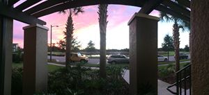 Balcony sunset view-orlando