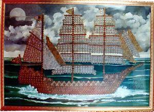Painel Navio Vela Três Mastros