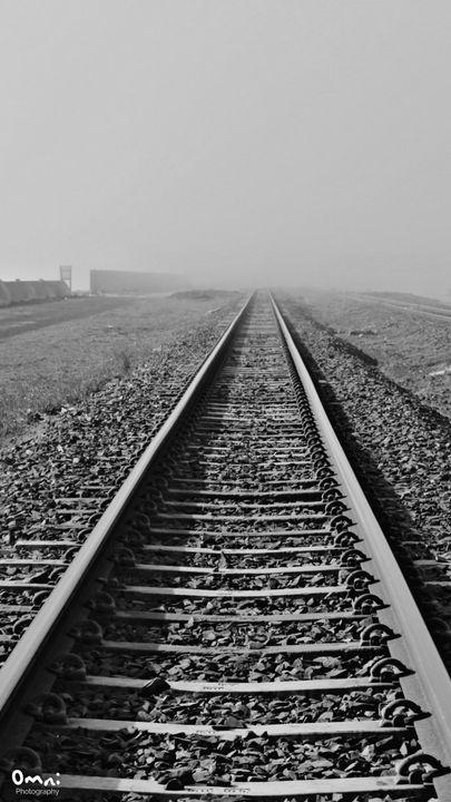 Train Track in the Mist - Omni Photo Art