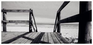 Wooden Deck on the Beach