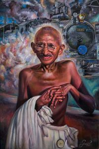 Mahatma Gandhi and the train of S A