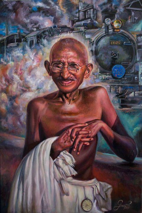 Mahatma Gandhi and the train of S A - Giovanidibuja