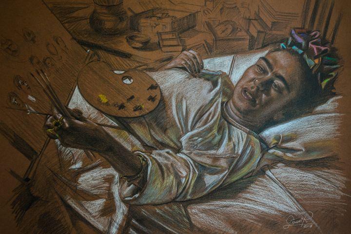 Frida Kahlo, el arte lo puede todo. - Giovanidibuja