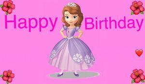 Sophia the first happy birthday