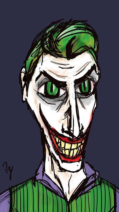 Joker Tim Burton Sketch Full Color - Puzius Artwork