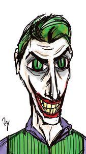Joker Tim Burton Sktech Colorized