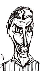 Joker Tim Burton Sketch B&N