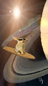 Bunny Surfing on Saturn