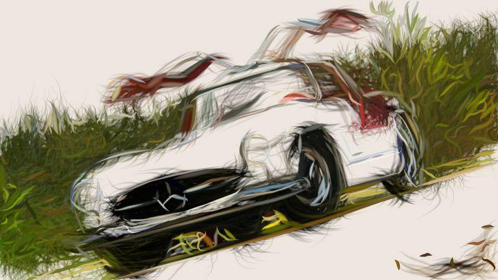 1954 Mercedes Benz 300 SL Gullwing I - CarsToon