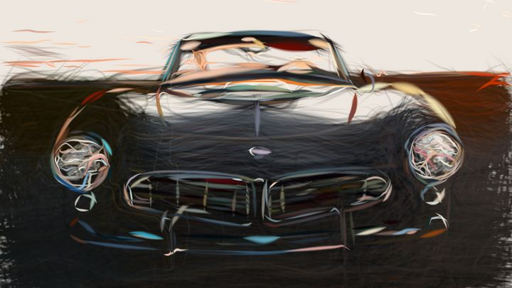 1957 BMW 507 Series 2 ID 84 - CarsToon
