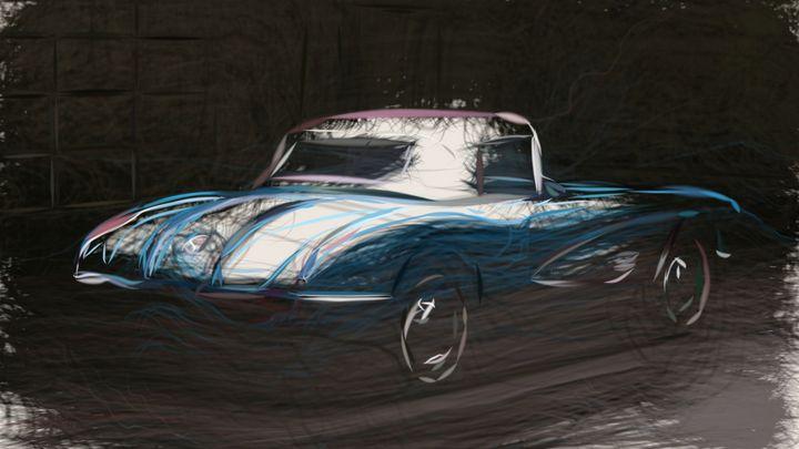1958 Chevrolet Corvette ID 102 - CarsToon