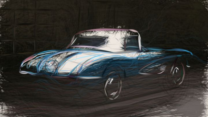 1958 Chevrolet Corvette - CarsToon