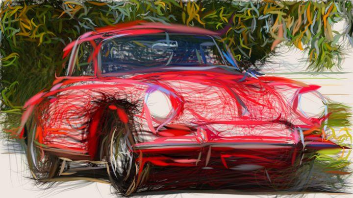 1964 Porsche 356C ID 295 - CarsToon